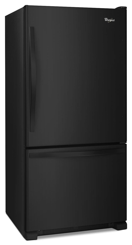 whirlpool 19 cu ft bottom mount refrigerator wrb329dfbb the brick. Black Bedroom Furniture Sets. Home Design Ideas