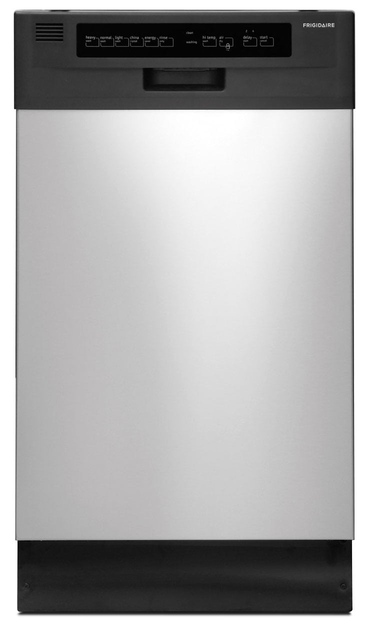 "Clean-Up - Frigidaire Stainless Steel 18"" Dishwasher - FFBD1821MS"