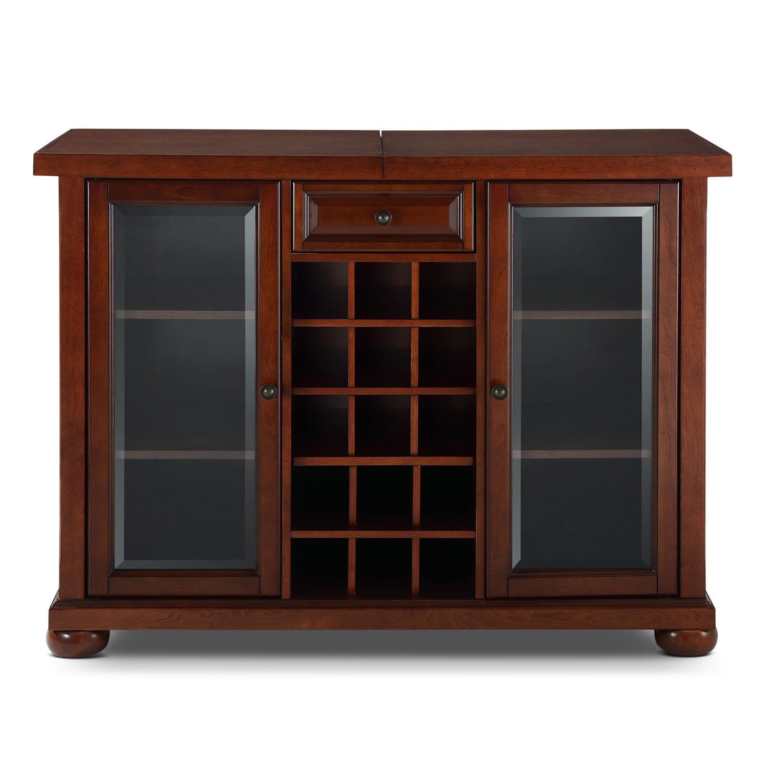 Russell Bar Cabinet Mahogany Value City Furniture