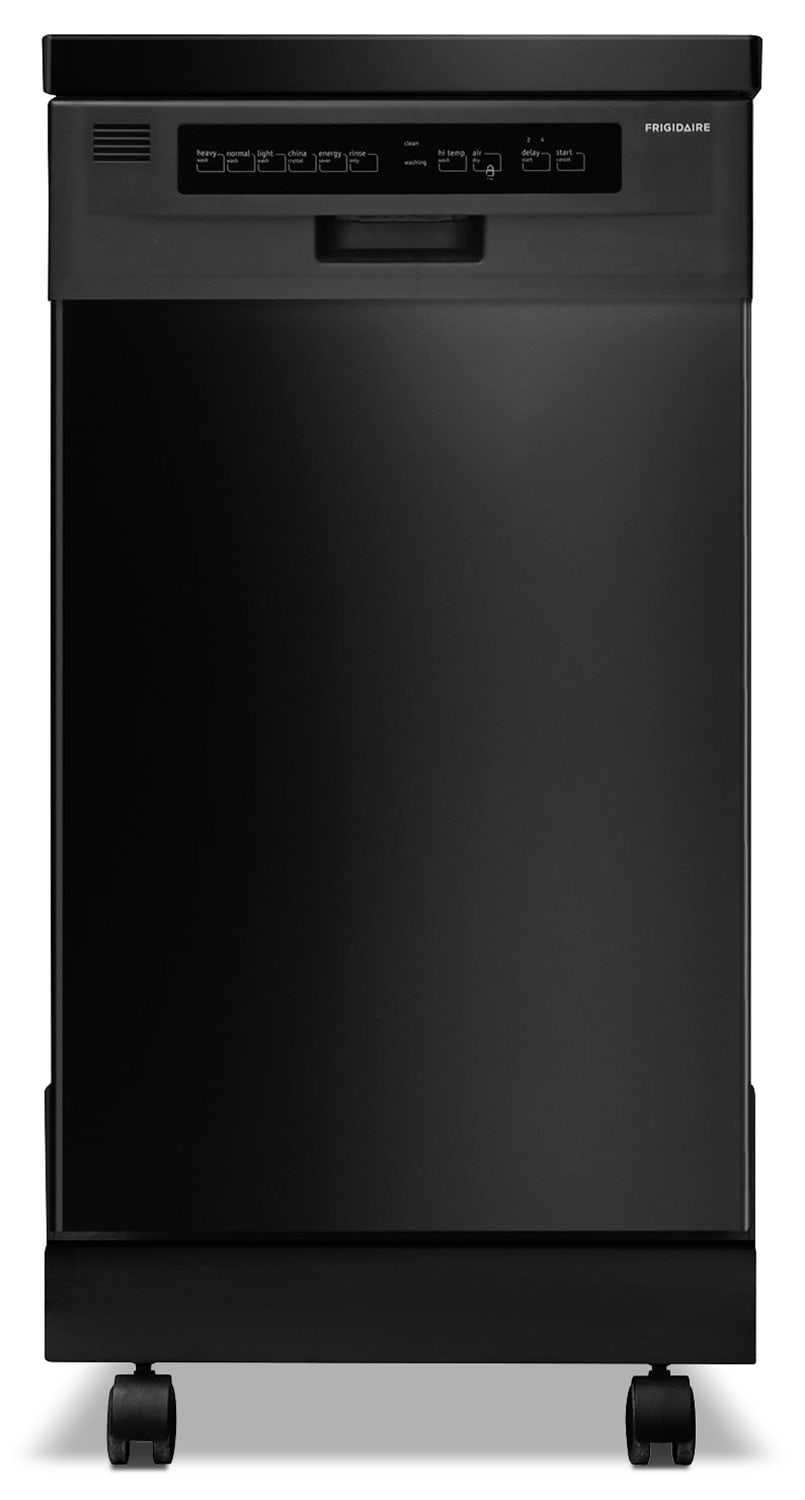 "Frigidaire Black Portable 18"" Dishwasher - FFPD1821MB"
