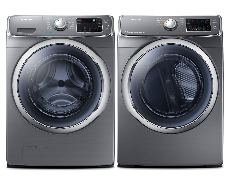[Samsung Platinum Front-Load Laundry Pair]