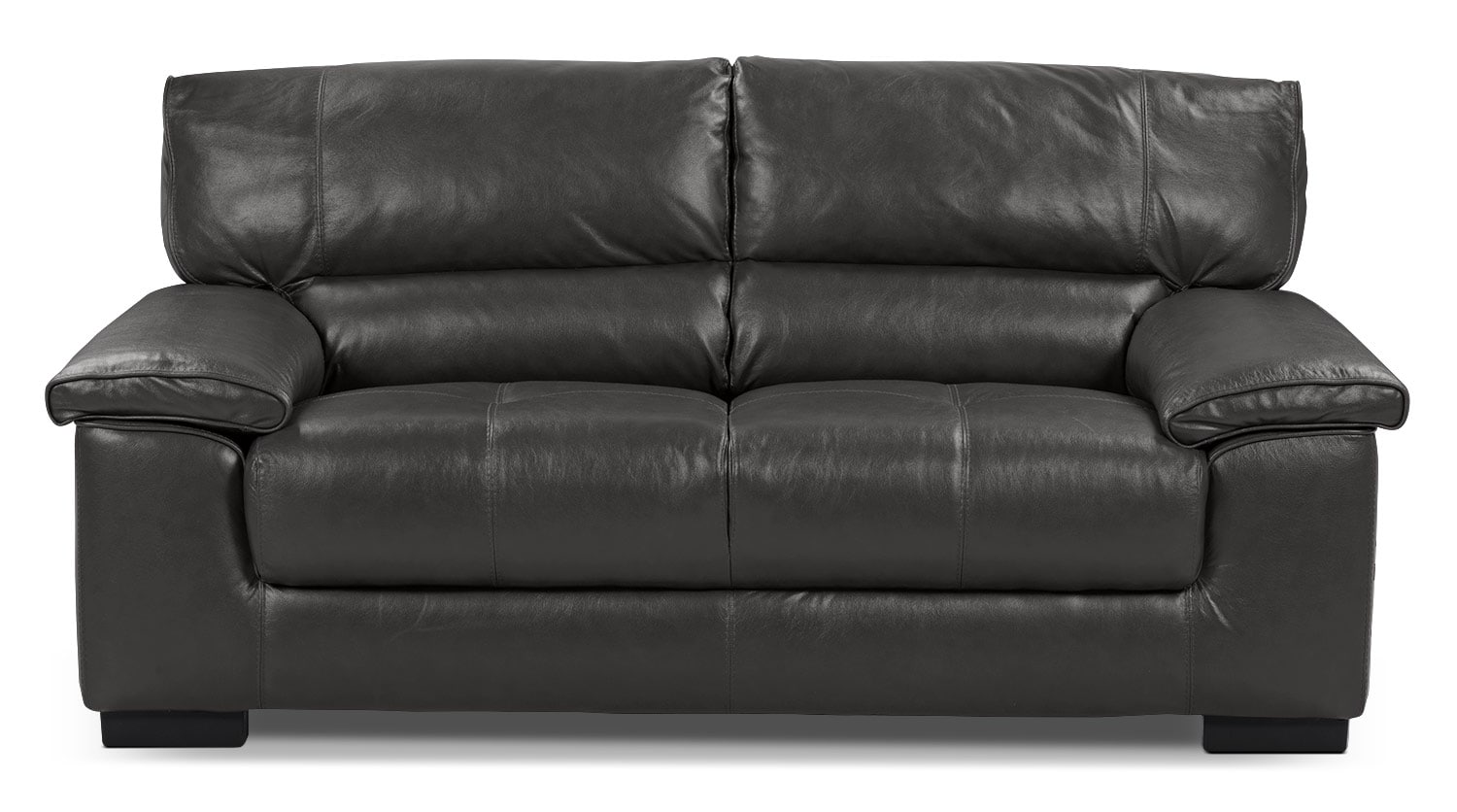 Chateau Du0027Ax 100% Genuine Leather Loveseat   Charcoal