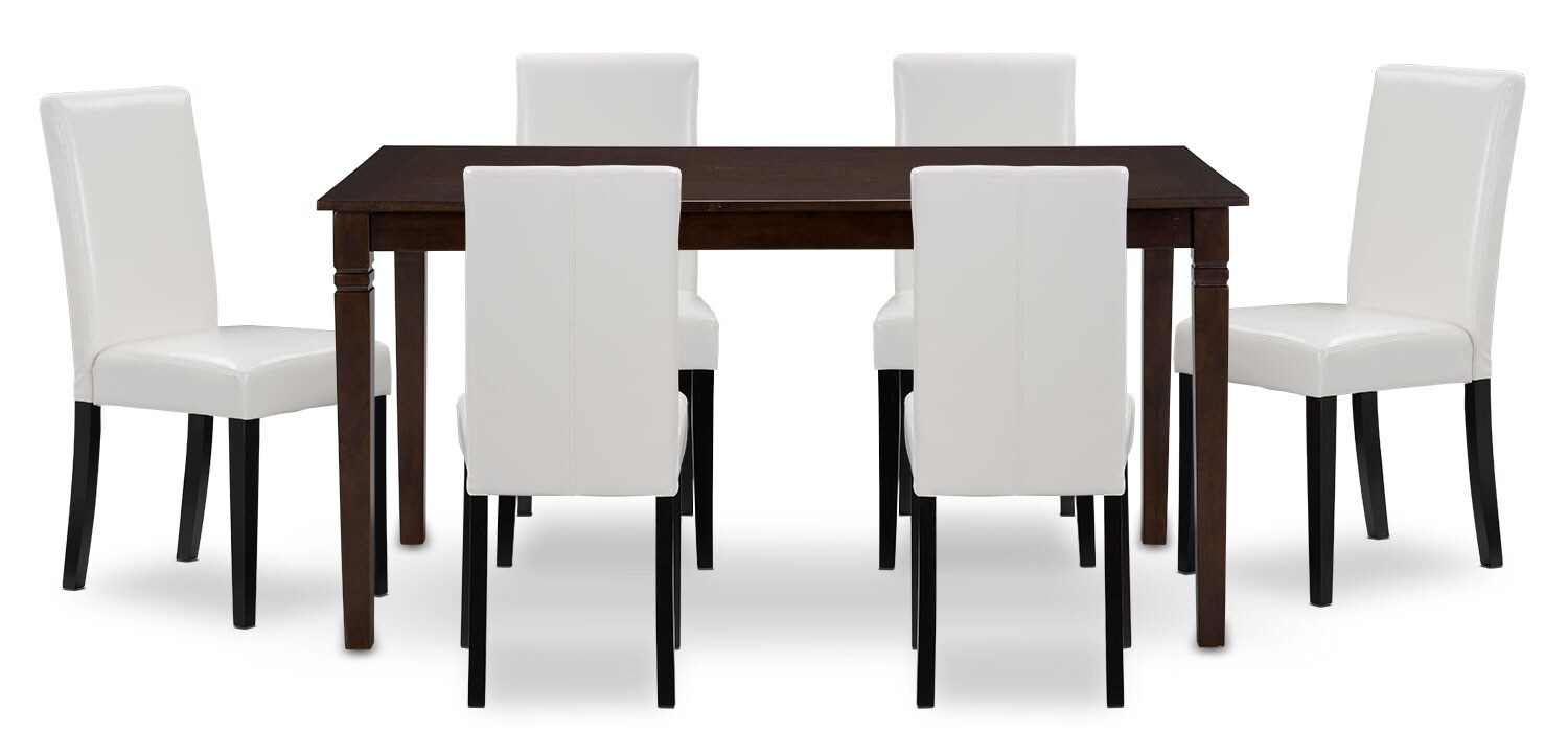 Dining Room Furniture - Aran 7-Piece Dining Package – White