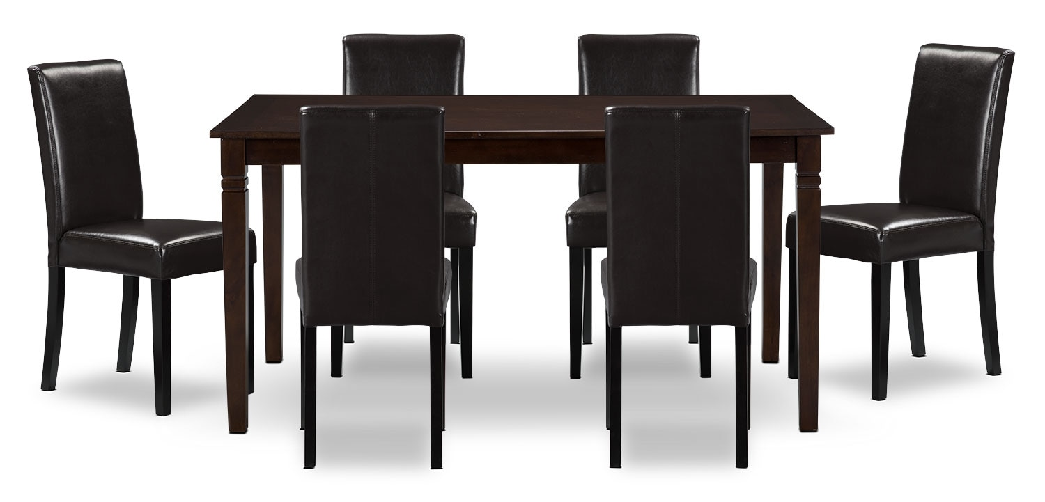 Dining Room Furniture - Aran 7-Piece Dining Package – Brown