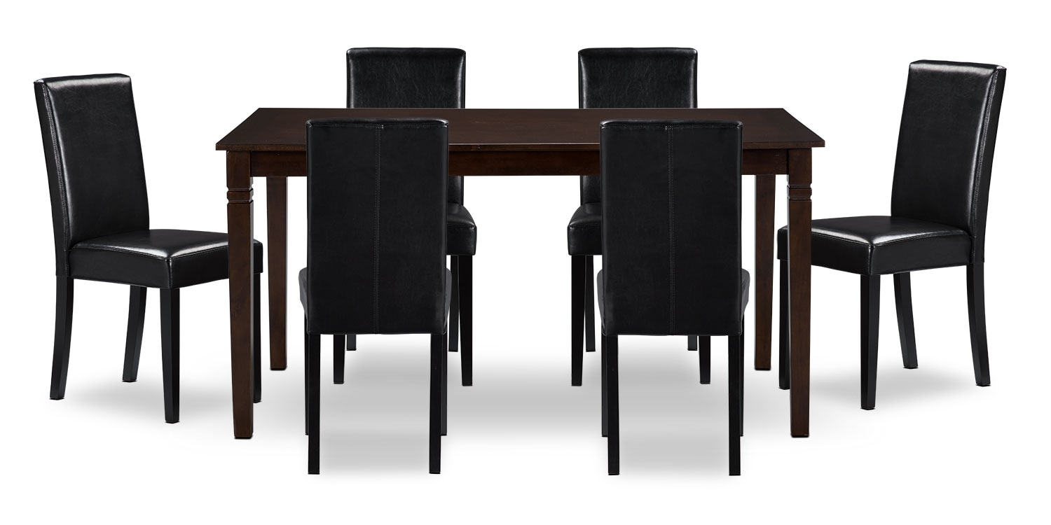 Dining Room Furniture - Aran 7-Piece Dining Package – Black