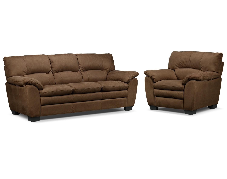 Kelleher Hazelnut 2 Pc. Living Room Package w/ Chair