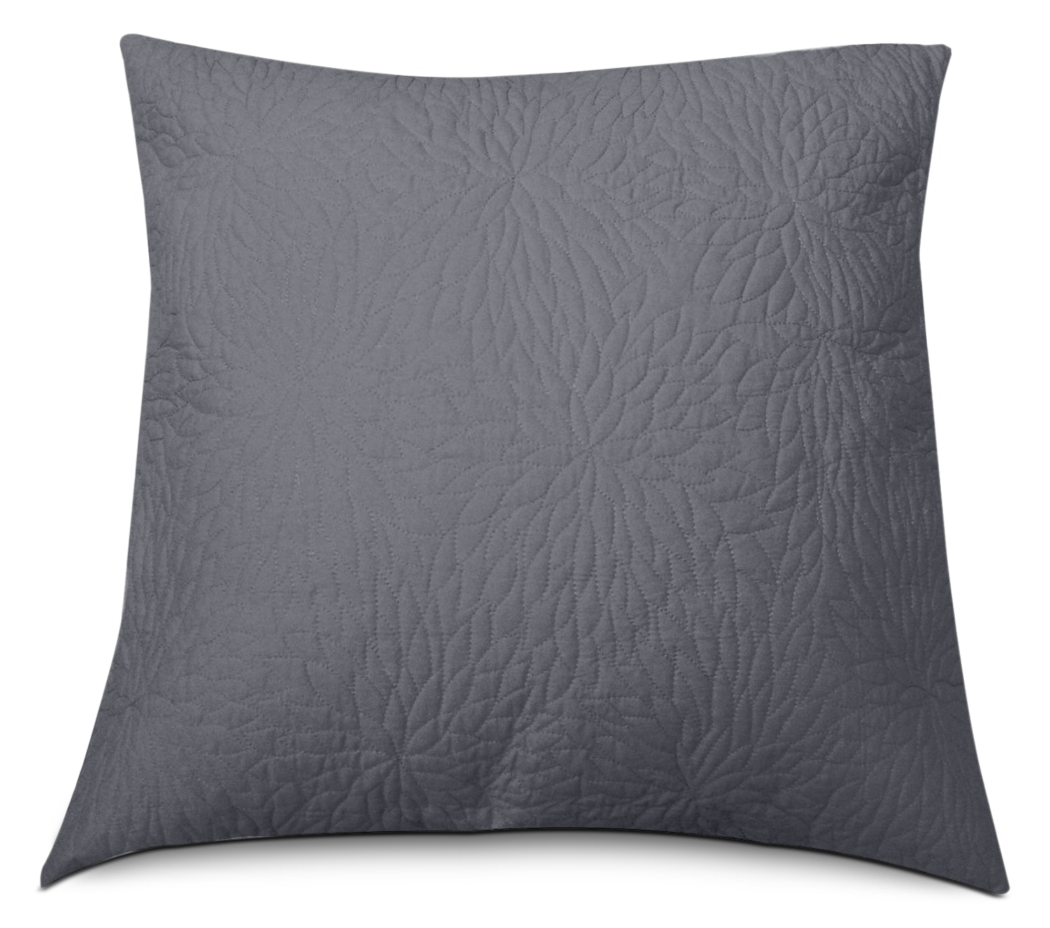 Mattresses and Bedding - Chrysanthemum Euro Cushion - Grey