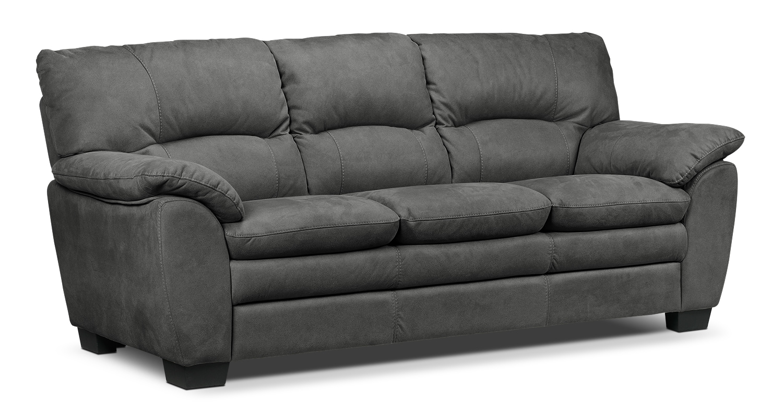 Living Room Furniture - Kelleher Charcoal Sofa