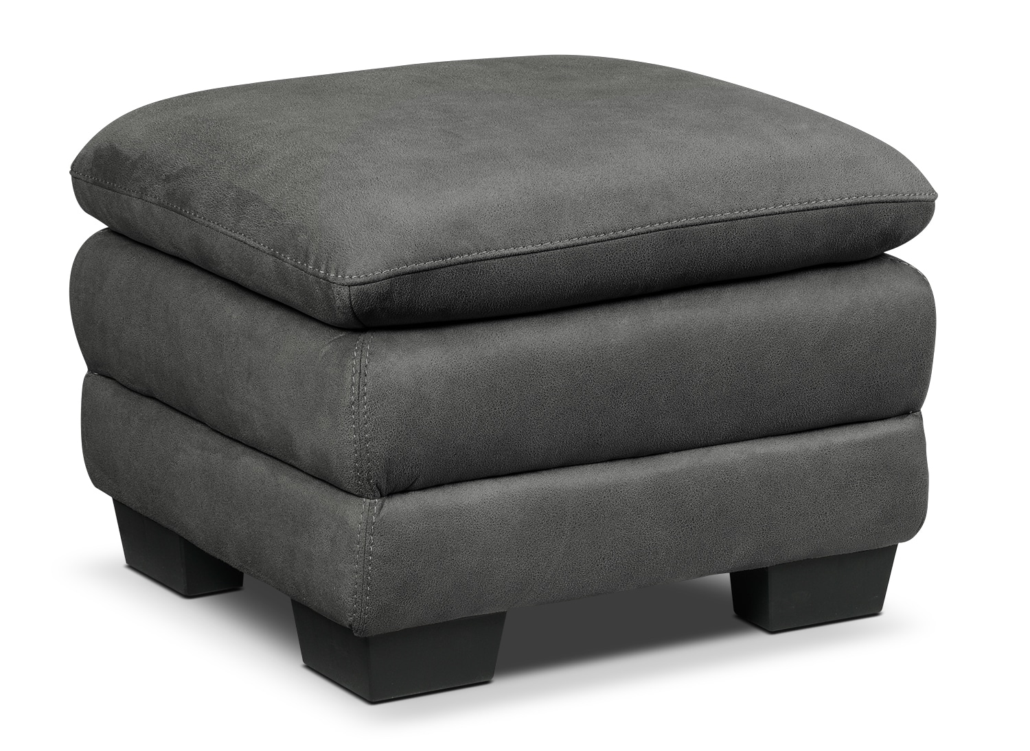 Living Room Furniture - Kelleher Charcoal Ottoman