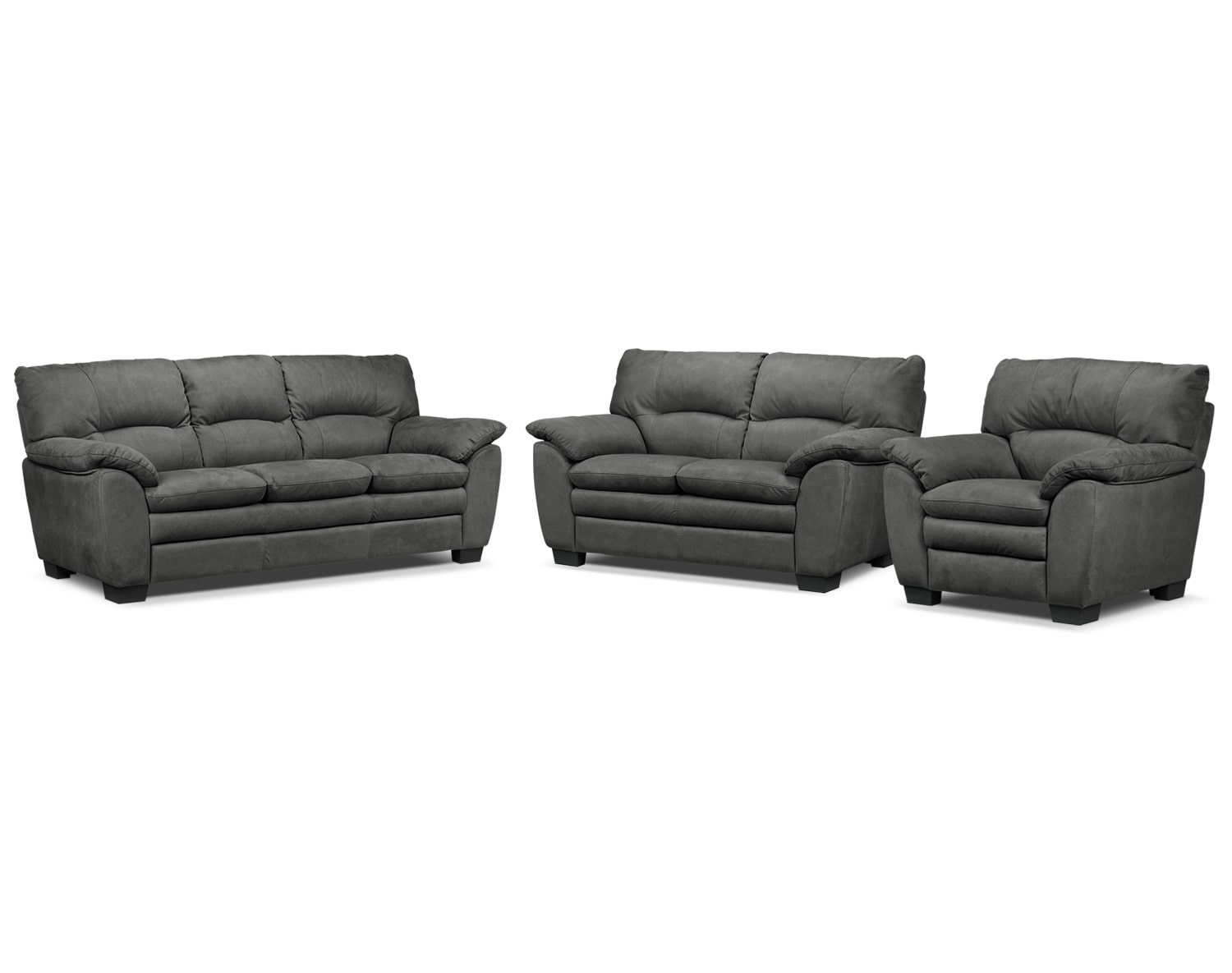 Kelleher Charcoal 3 Pc. Living Room Package