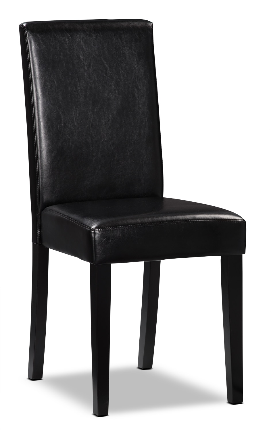 Black Faux Leather Accent Dining Chair