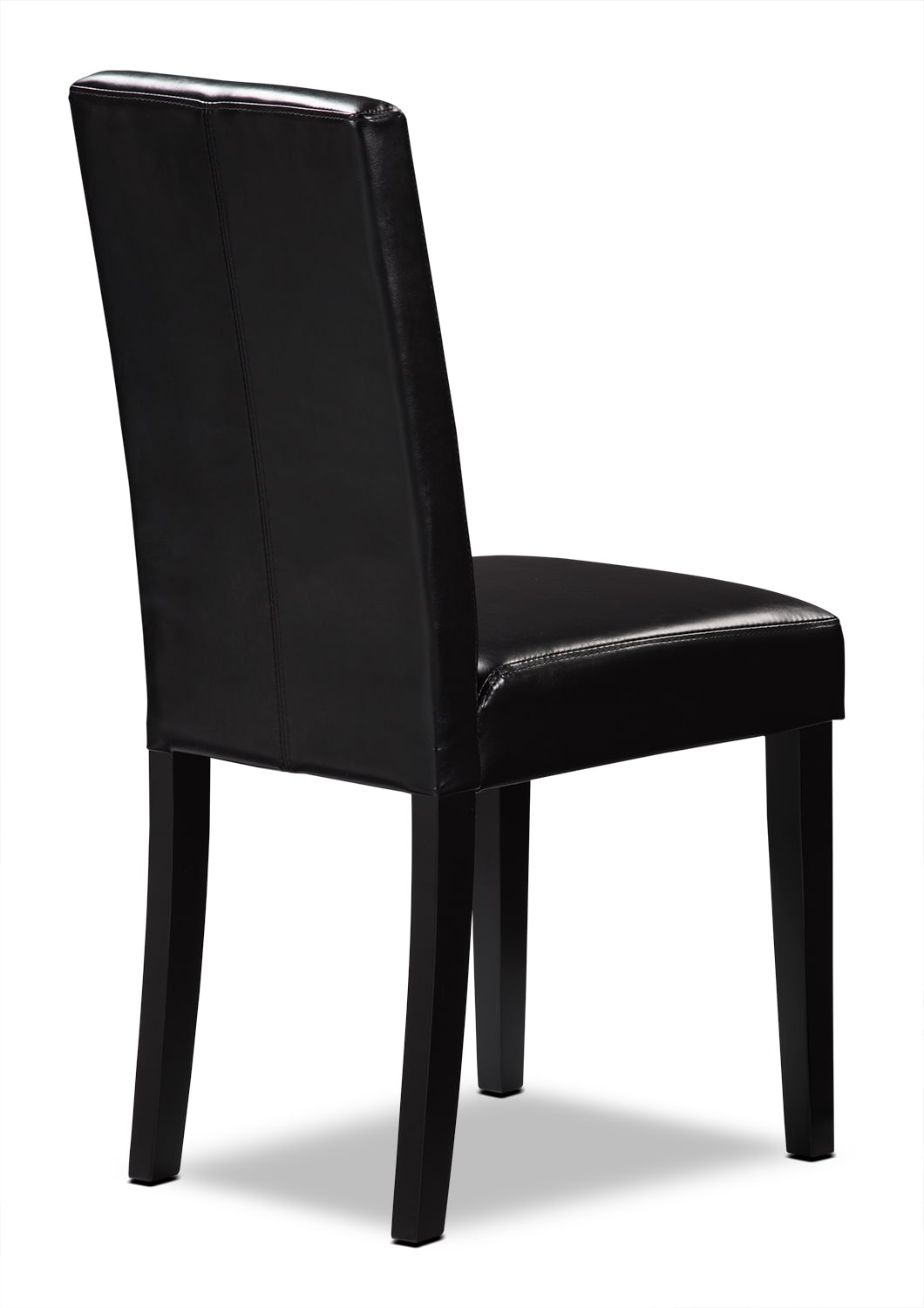 dining chairs  the brick - black faux leather accent dining chair