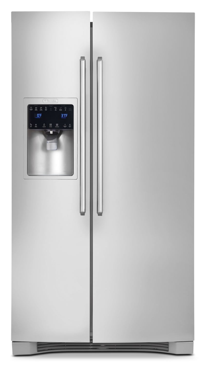 Refrigerators and Freezers - Electrolux Stainless Steel Counter-Depth Side-by-Side Refrigerator (22.67 Cu. Ft.) - EI23CS65KS