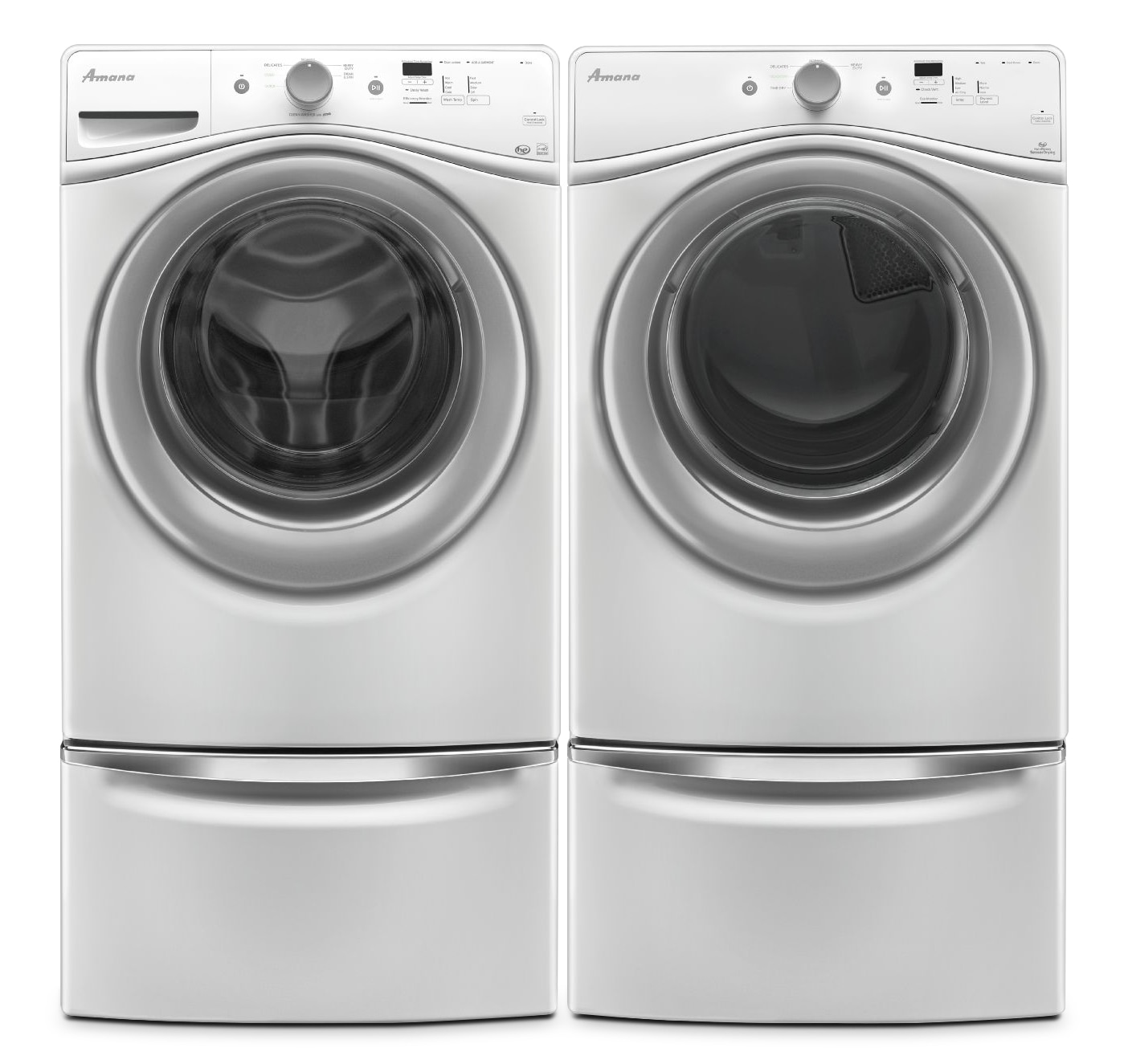 Gas Washers And Dryers Amana 48 Cu Ft Front Load Washer And 74 Cu Ft Gas Dryer