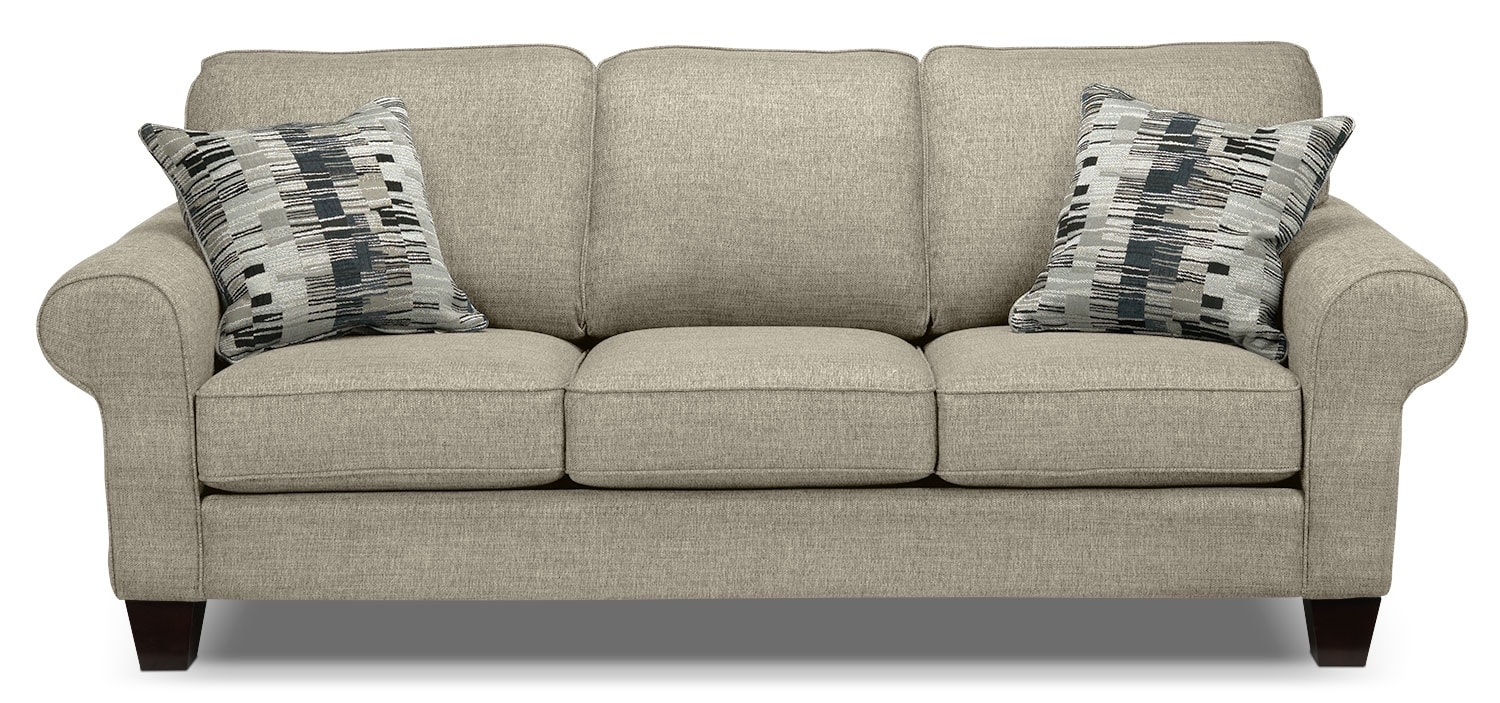 Living Room Furniture - Drake Sofa - Taupe