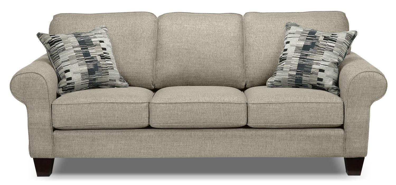 Living Room Furniture - Drake Sofa - Taupe