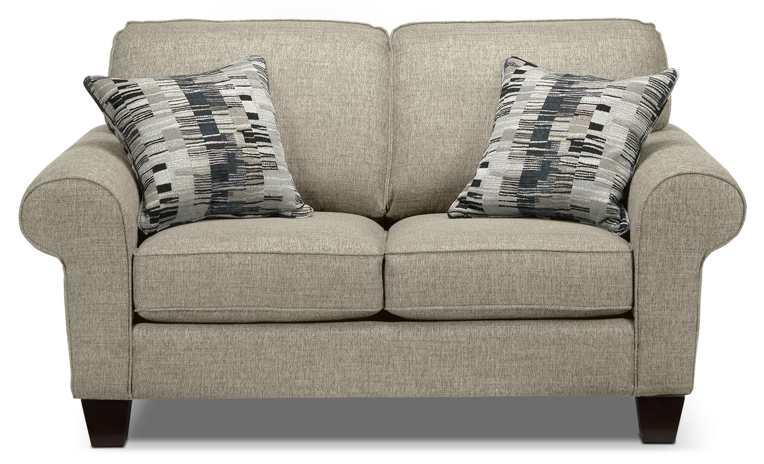 Living Room Furniture - Drake Loveseat - Taupe