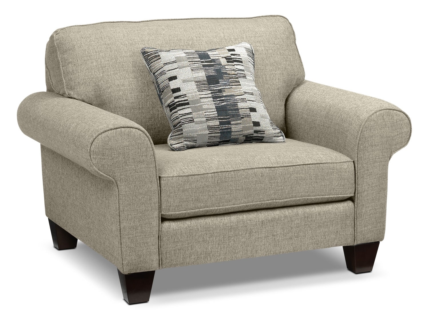 Living Room Furniture - Drake Chair - Taupe