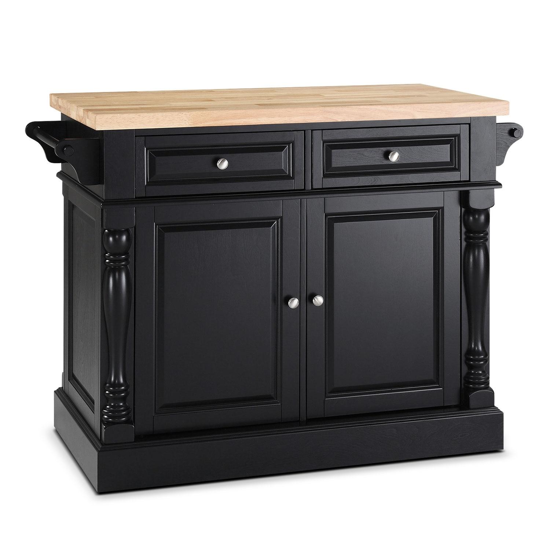 warren kitchen island value city furniture. Black Bedroom Furniture Sets. Home Design Ideas