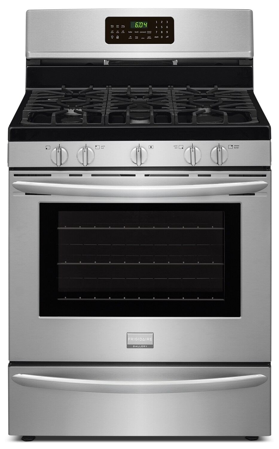 Frigidaire Gallery 5.0 Cu. Ft. Freestanding Gas Range with Effortlesss™ Convection– Stainless Steel