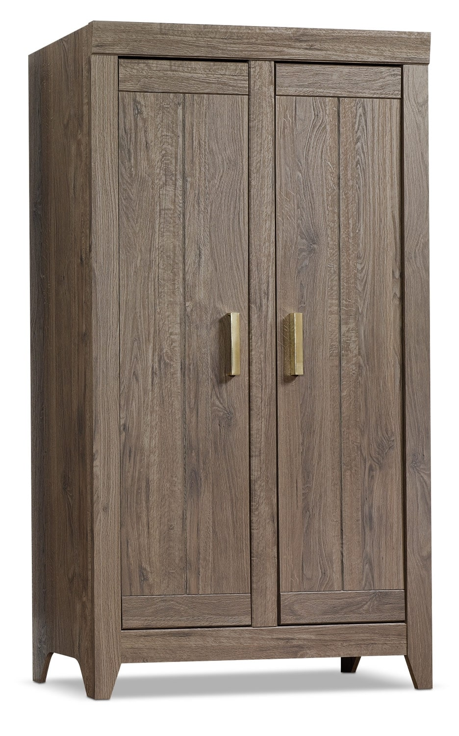 Accent and Occasional Furniture - Adept Wide Storage Cabinet - Fossil Oak