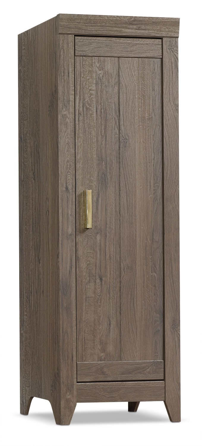 Accent and Occasional Furniture - Adept Narrow Storage Cabinet - Fossil Oak