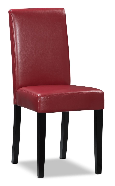 Chaise d'appoint de salle à manger rouge