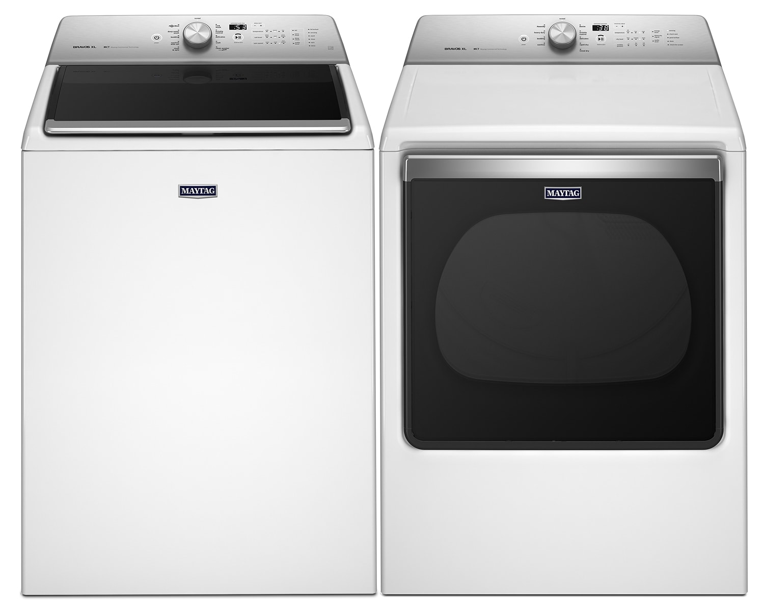 [Maytag White Top-Load Laundry Pair]