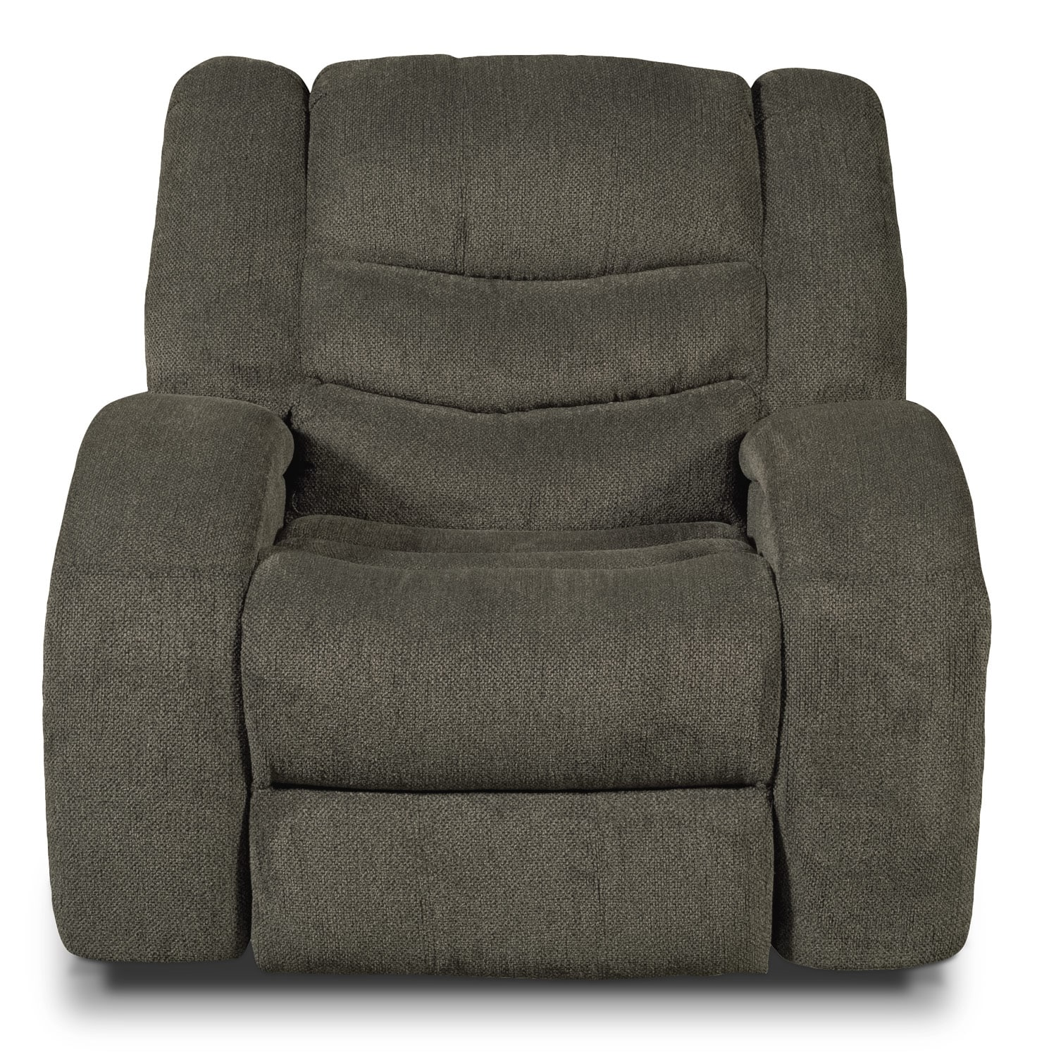 Living Room Furniture - Angus Chenille Power Reclining Chair - Brown