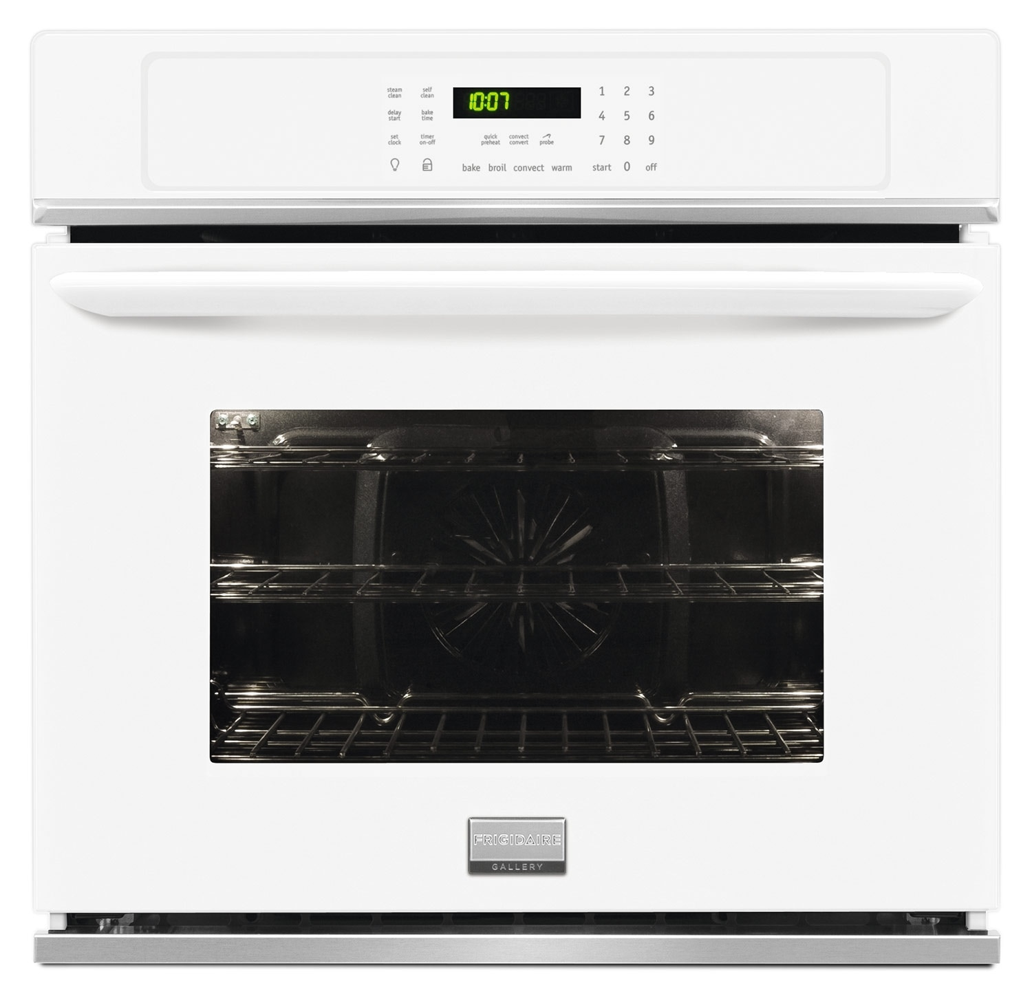 "Cooking Products - Frigidaire Gallery 27"" Electric Convection Single Wall Oven - White"