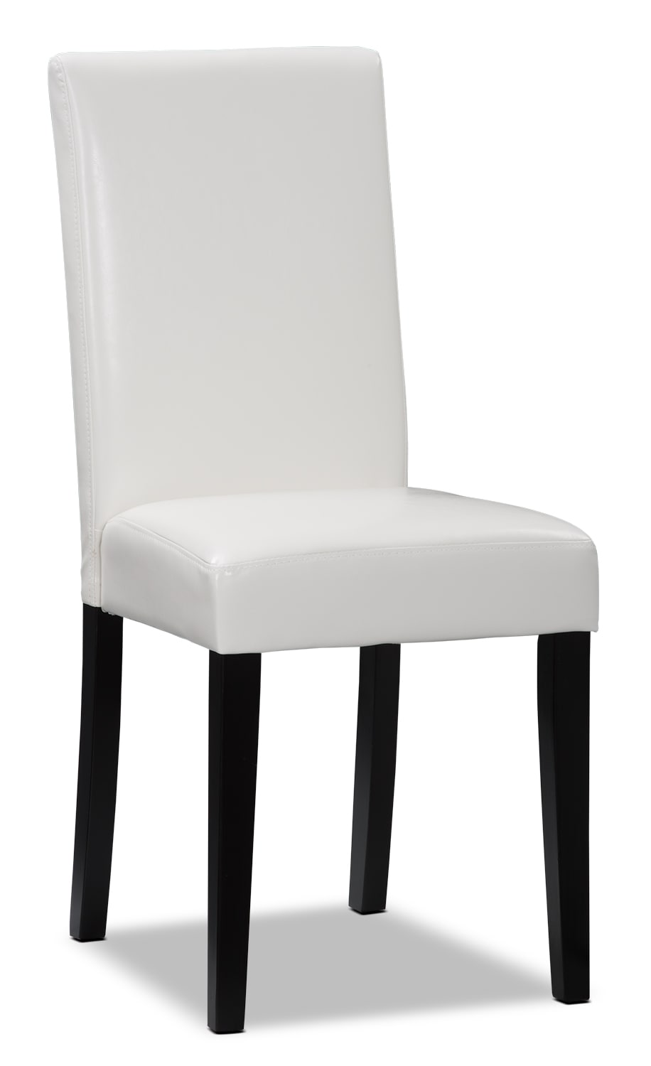 White Faux Leather Accent Dining Chair