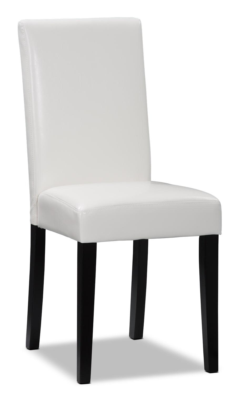 Chaise d'appoint de salle à manger blanche