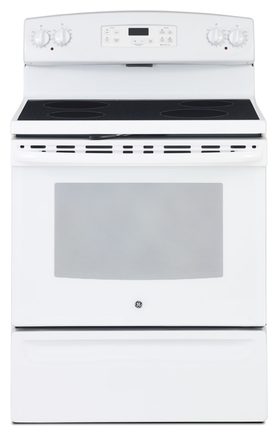 Cooking Products - GE 5.0 Cu. Ft. Freestanding Smooth Top Electric Range - White