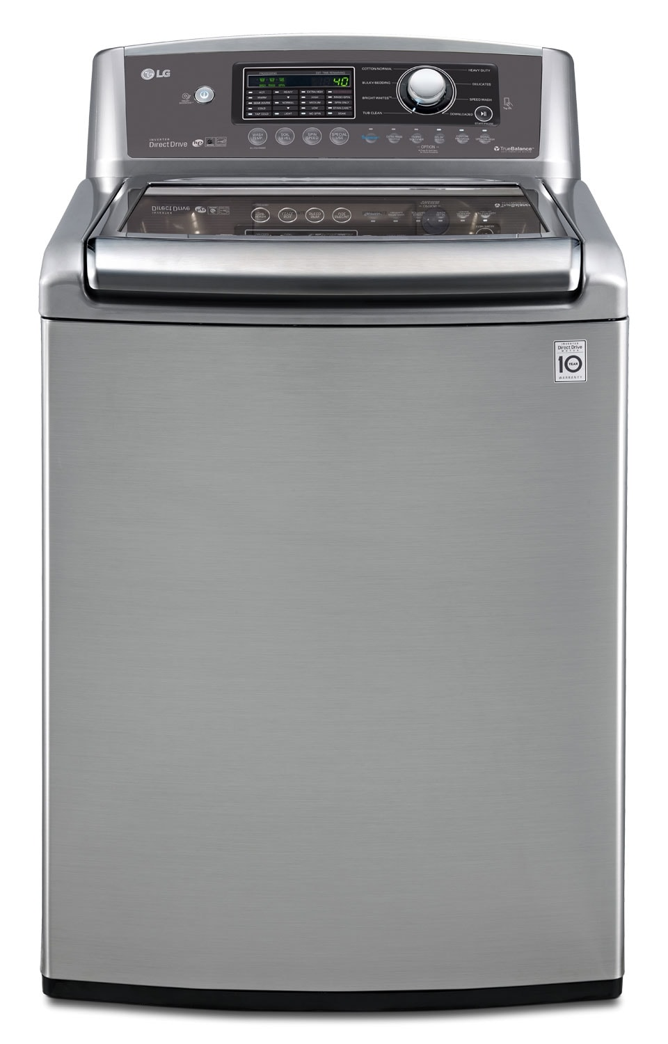 LG Appliances Graphite Steel Top-Load Washer (5.6 Cu. Ft. IEC) - WT5270CV
