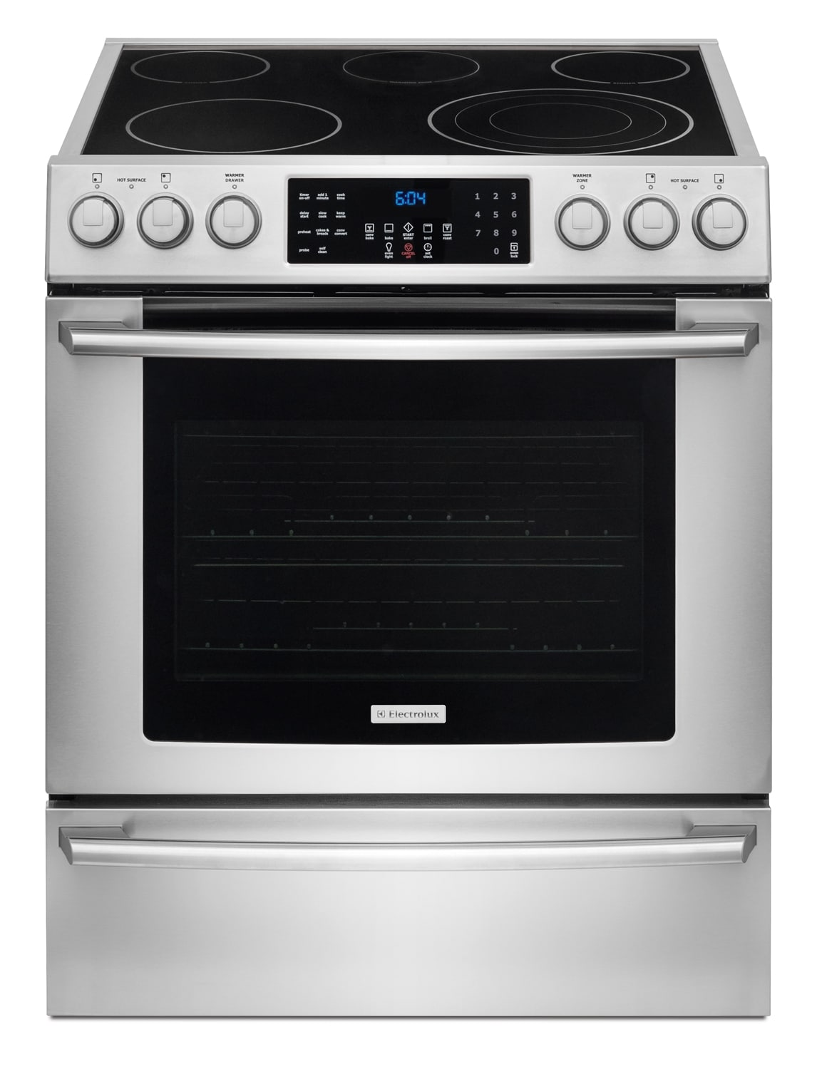 Cooking Products - Electrolux 4.6 Cu. Ft. Front-Control Freestanding Electric Range - Stainless Steel