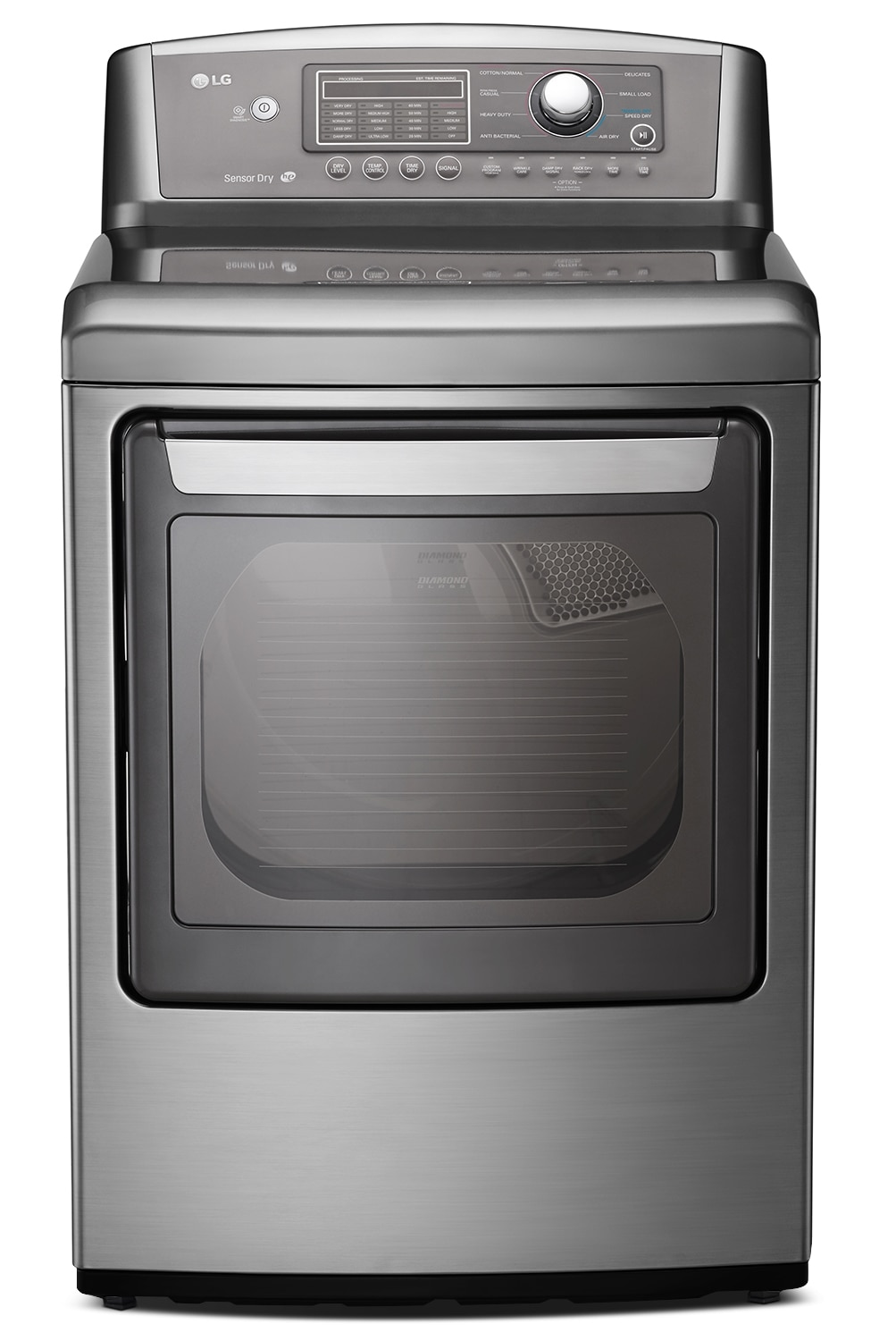 LG Appliances Graphite Steel Electric Dryer (7.3 Cu. Ft.) - DLE5270V