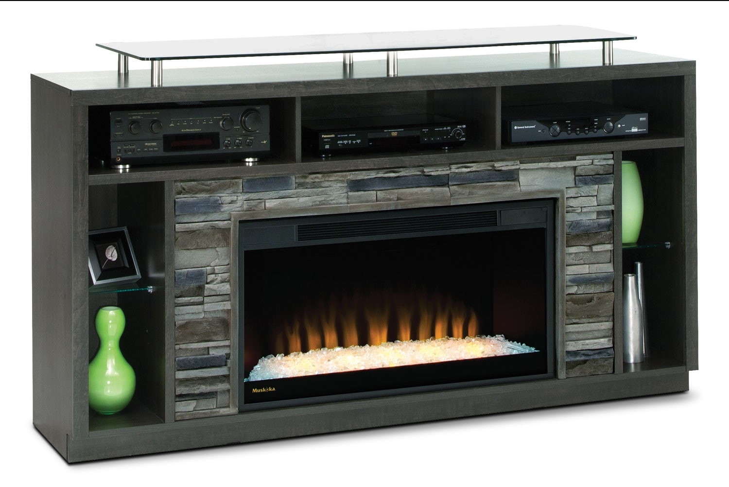 Arlington 71 Tv Stand With Glass Ember Firebox The Brick