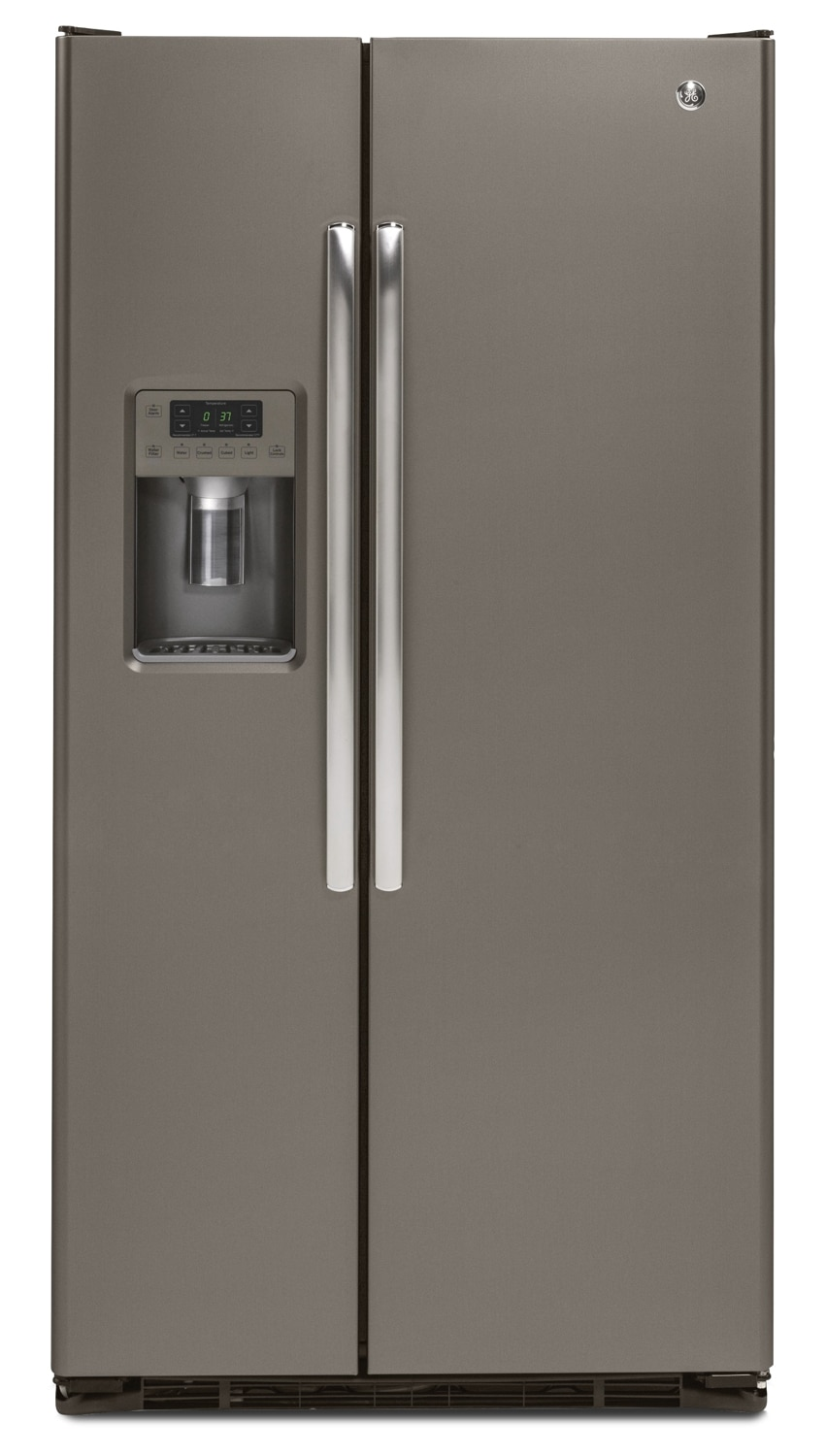 Refrigerators and Freezers - GE 21.9 Cu. Ft. Side-by-Side Refrigerator with Water and Ice Dispenser – Slate