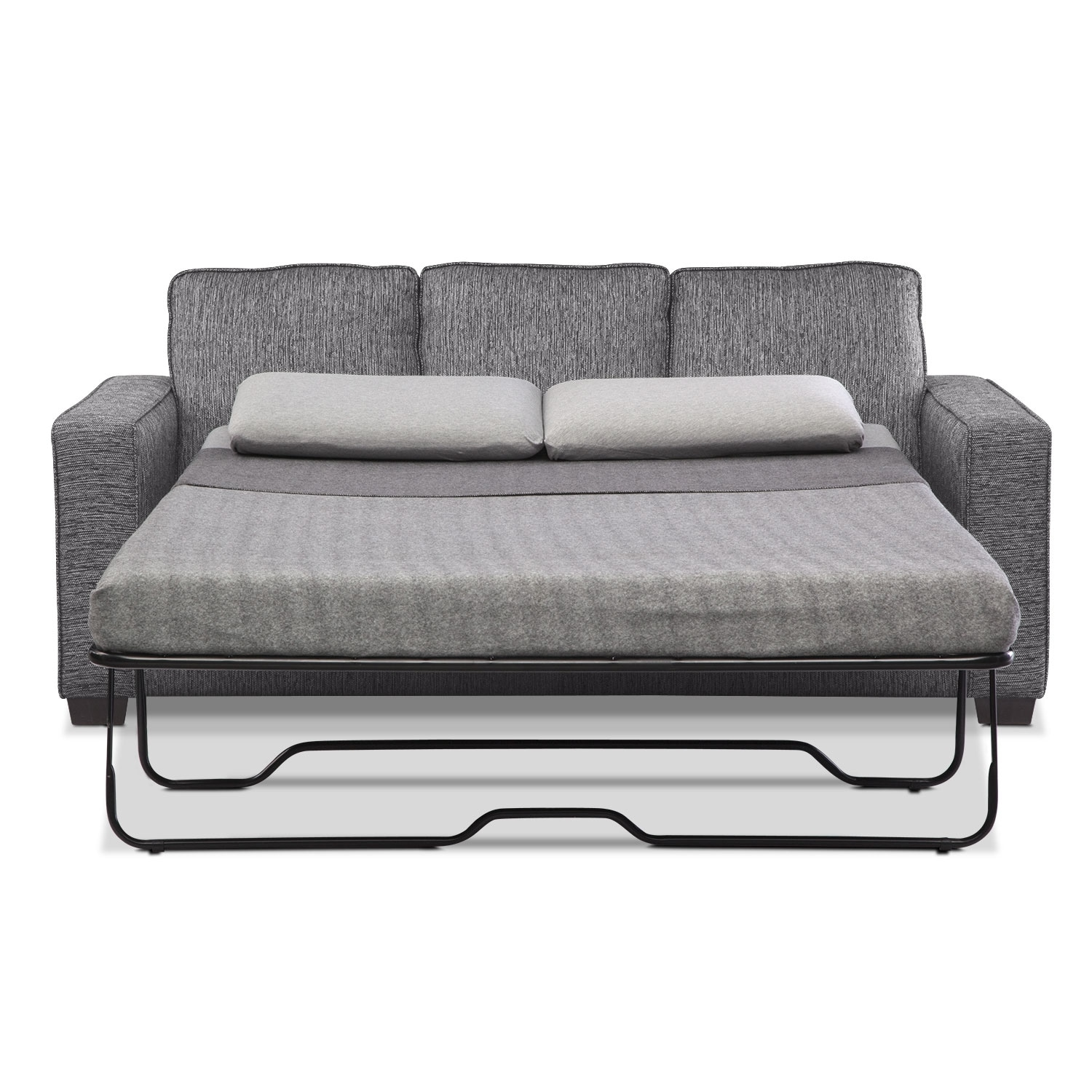 Sterling Memory Foam Sleeper Sofa With Chaise Charcoal