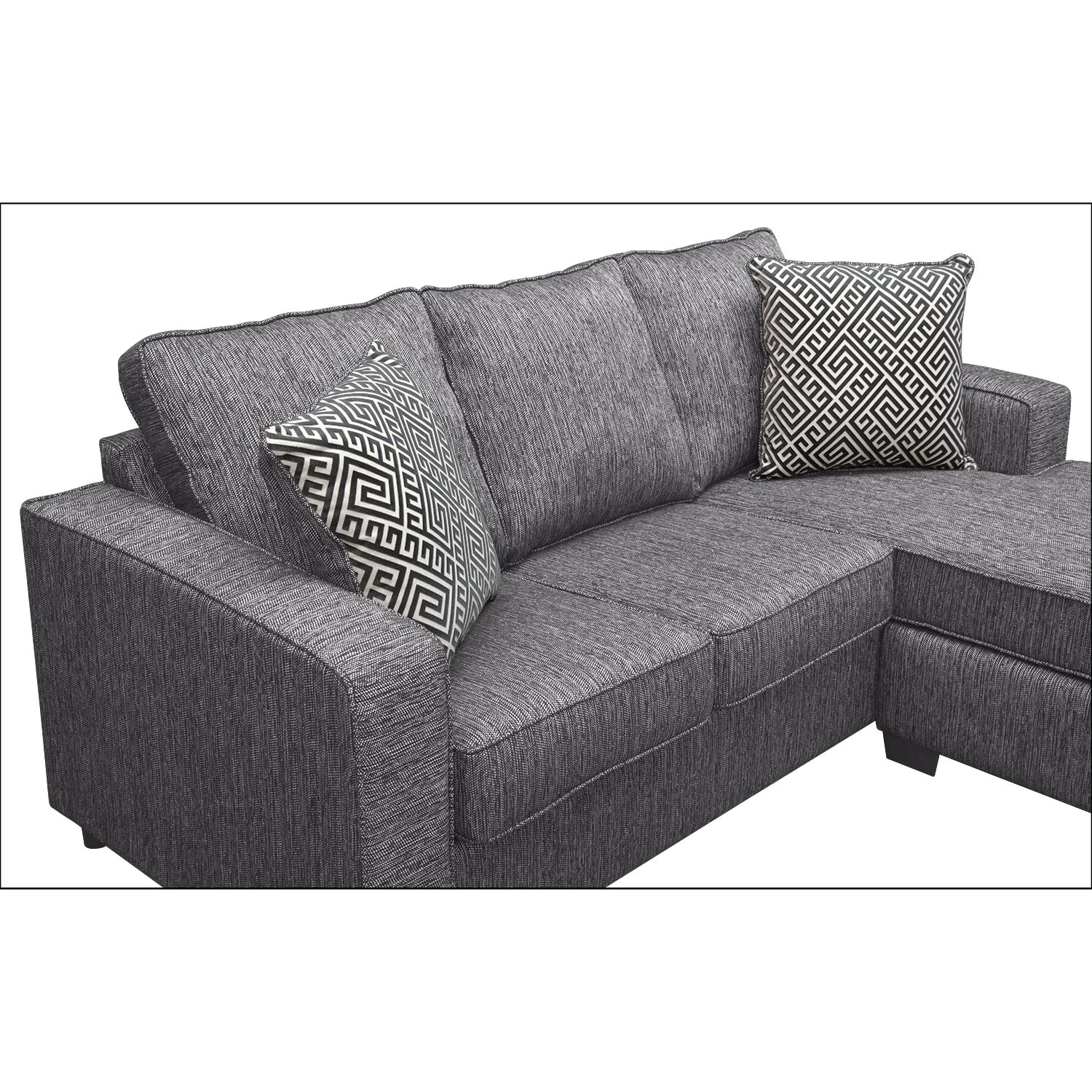 Sterling Charcoal Queen Innerspring Sleeper Sofa W Chaise