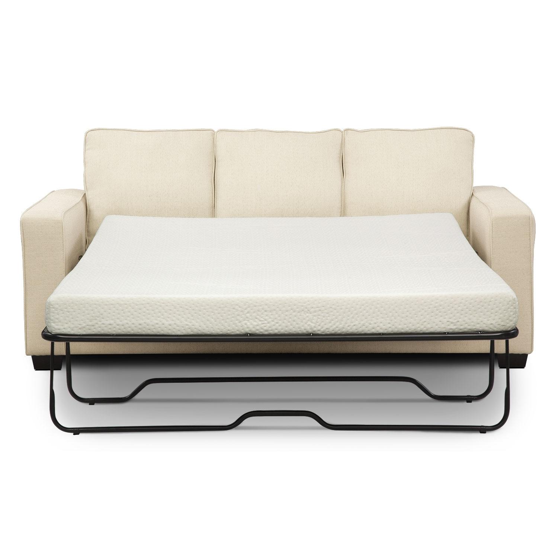 Sterling Beige Queen Memory Foam Sleeper Sofa W Chaise