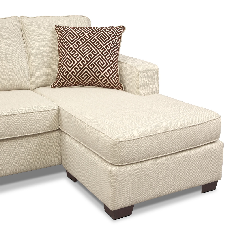 Sterling Beige Queen Innerspring Sleeper Sofa W Chaise