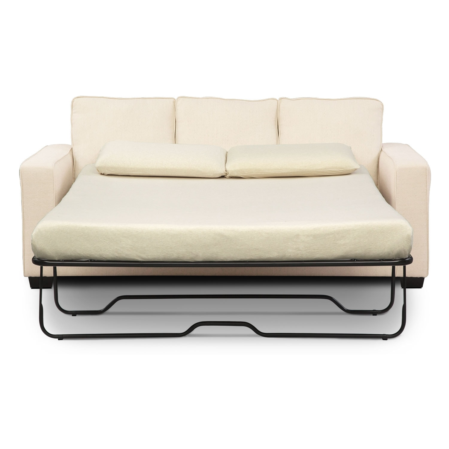 Sterling innerspring sleeper sofa with chaise beige for Apartment sofa chaise