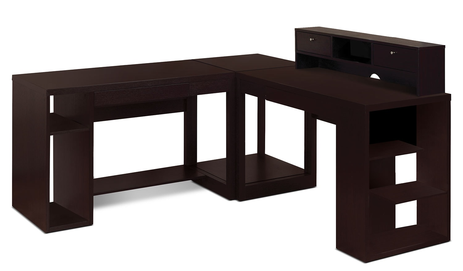 Home Office Furniture - Peyton 4-Piece Desk Package