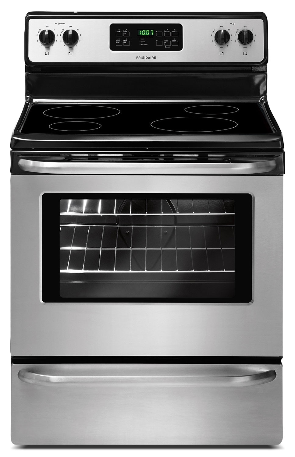 Cooking Products - Frigidaire 5.3 Cu. Ft. Self-Clean Freestanding Electric Range - Stainless Steel