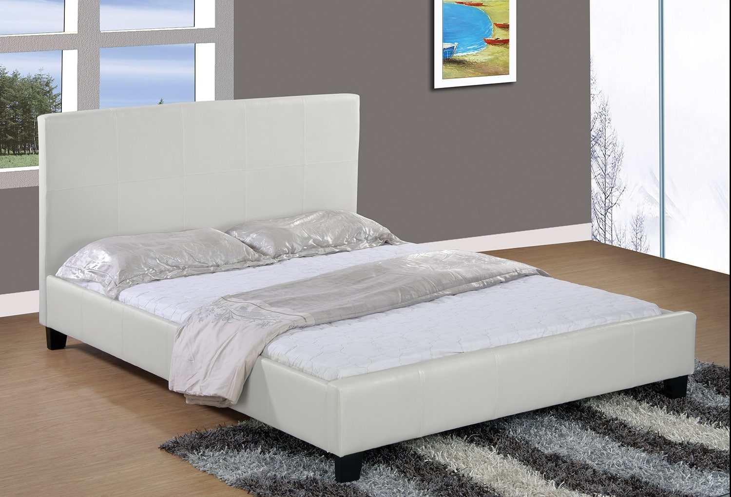 chase white queen bed  the brick - click to change image