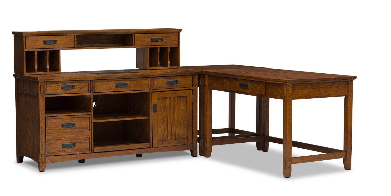 Home Office Furniture - Carson 4-Piece Desk Package
