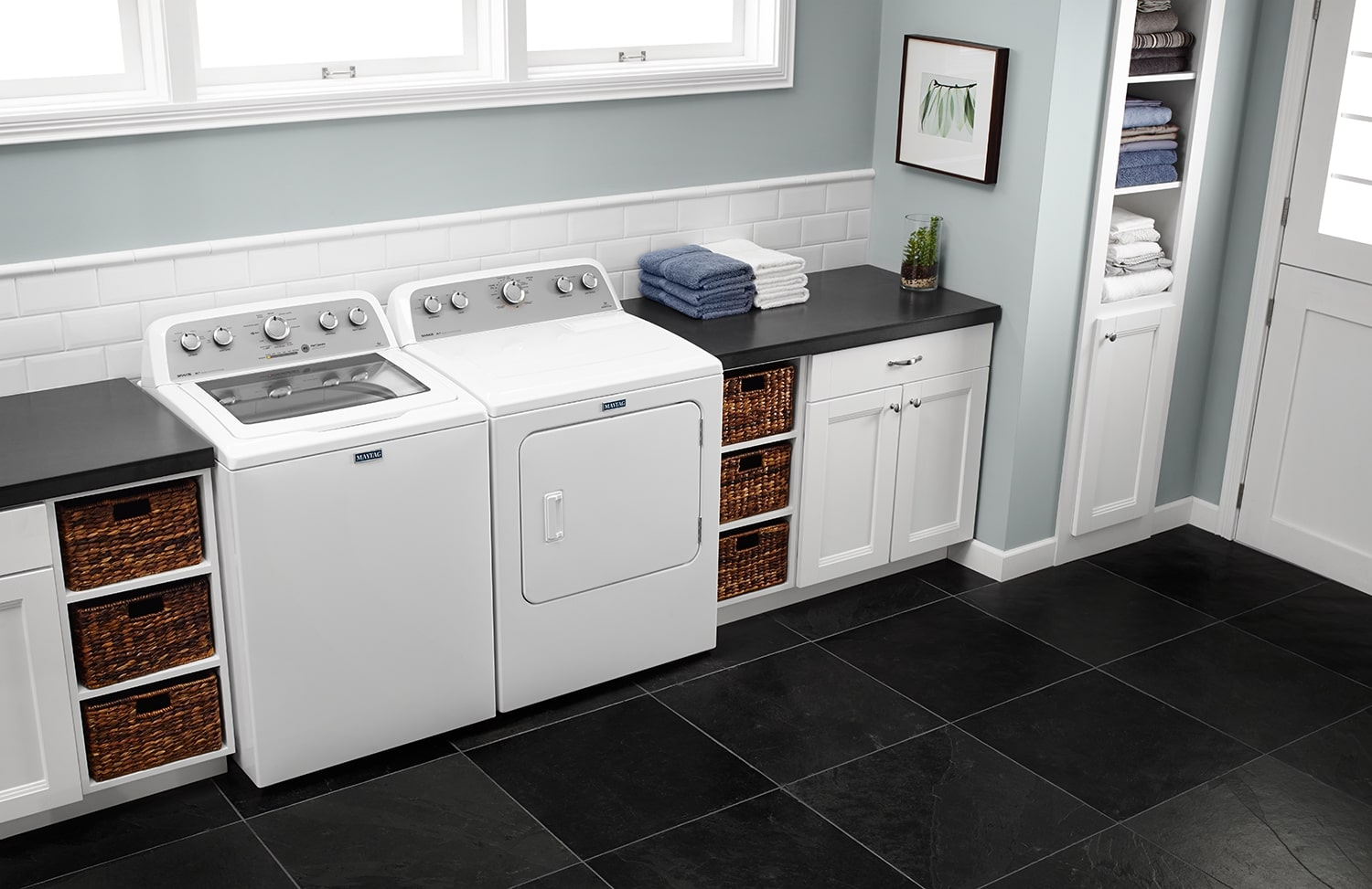 Maytag Bravos 174 5 0 Cu Ft Top Load Washer And 7 0 Cu Ft