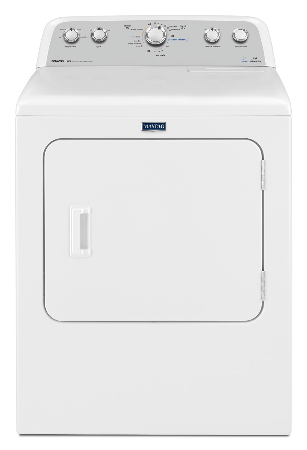 Washers and Dryers - Maytag Bravos® 7.0 Cu. Ft. High-Efficiency Electric Dryer - White