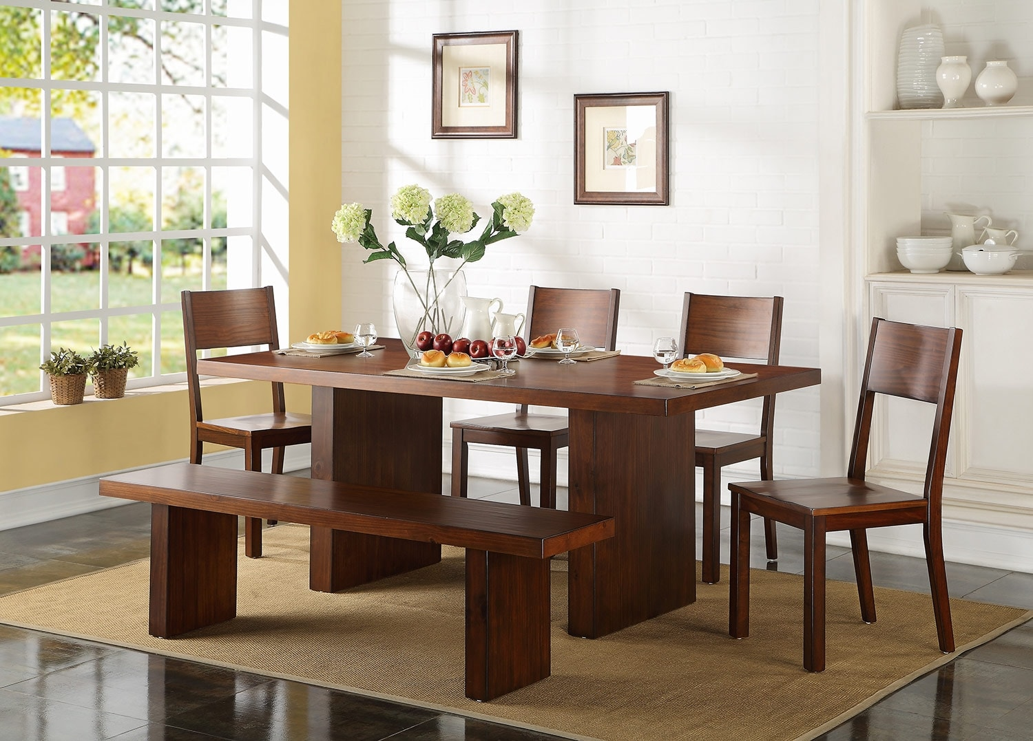 Dining Room Furniture - Austin 6 Pc. Dinette Package w/ Bench